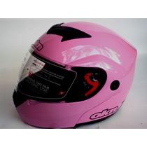 Casco Rebatible Okn1 Rosa-homologado-sanmiguel Bikes