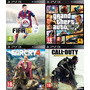 Fifa 15 - Call Of Duty Aw - Far Cry 4- Gta V 5 Digital Ps3