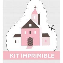 Kit Imprimible Geometric Personalizado Bautismo Y/o Comunion