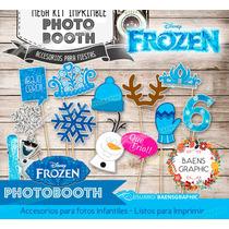 Kit Imprimible Frozen Photo Booth - Accesorios Para Fotos