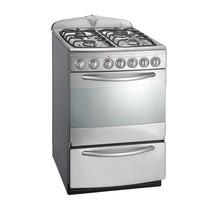 Cocina Domec 56 Cm Multigas Luz Encendido Timer Visor Acero
