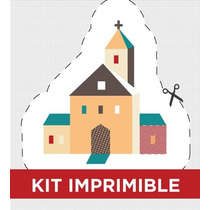 Kit Imprimible Geom Bautismo Comunion Invitacion Golosinas