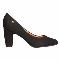 Zapato Clasico Mujer Vizzano Sintetico Gamuza Negro