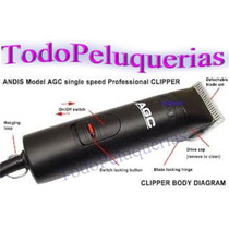 Cortadora Andis (usa) Agc2 2 Velocidades* Peluqueria Humana