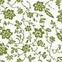 Papel Muresco Amarie 303 Flor Verde Vinilizado Fundasoul