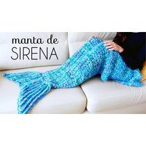 Manta De Sirena Tejida Al Crochet