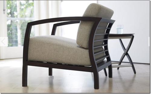 Sill n de dise o malena de madera con almohadones moderno for Sillon diseno moderno