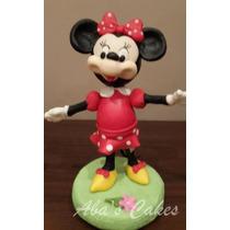 Adorno Para Torta Mickey O Minnie Porcelana Fria