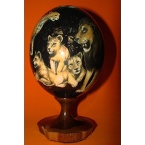 Porcelana/ Firmado / Leones Elefante Chita
