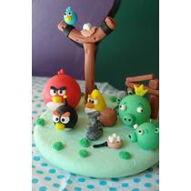 Adorno De Torta Porcelana Fria Angry Birds