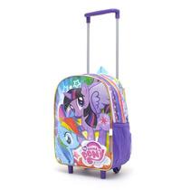 Mochila My Little Pony C/carro 12 Pulg Pequeño Pony Env Int