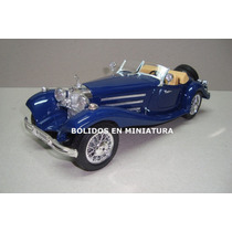 Mercedes Benz 500k Roadster 1936 - Color Azul - Burago 1/18
