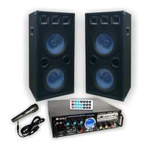 Combo Consola 3 Canales Usb 200w + 2 Columnas 10 - Alma -