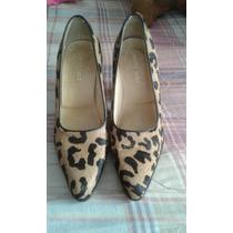 Zapatos De Cuero De Vaca Punto Seta