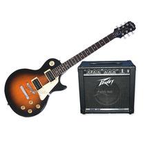 Combo Guitarra Epiphone Lp100 + Amplificador Peavey 15 Watts