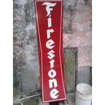 Cartel Firestone Replica En Chapa No Enlozado
