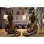 Figura Buda Resina Importado Altura 22 Cm Detalles A Mano