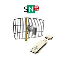 Kit Cliente Snusb Wireless Usb + Antena Semi 18db Hasta 3km