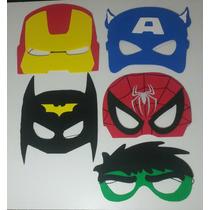 25 Mascaras De Goma Eva Superheroes Nene 5un Por Modelo