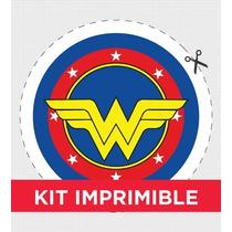 Kit Imprimible Superheroes Personalizado Para Cumple