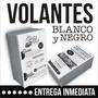 1000 Volantes 10x15 Blanco Y Negro - Diseño Sin Cargo - 24hs