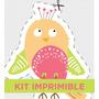 Kit Imprimible Pajaritos Bosque Invitacion Bautismo Cumple