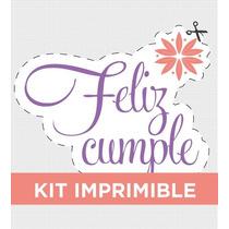 Kit Imprimible Elegante Cumple Adultos Invitacion