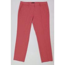 Excelente Pantalon Vestir Dama Sisley-rojo+blanco-impecable