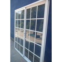 Ventana Puerta Balcon 150x200 Repartido Aluminio Blanco!