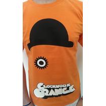 Remera Estampada Naranja Mecanica Clockwork Orange !