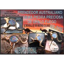 Opalo Fuego Prendedor Original Con Gema Piedra Preciosa Aus