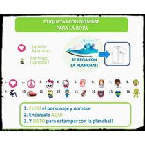 Cintas Etiquetas Nombre P Plancha Guardapolvo Uniforme Ropa