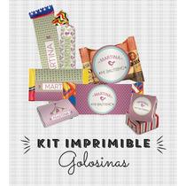 Kit Imprimible Calesita Golosinas Personalizadas
