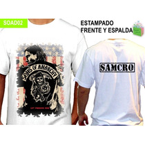 Remeras Samcro Soa Sons Of Anarchy Unisex Modal S A Xxl