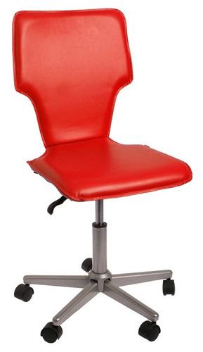 Silla de escritorio vinilo roja 879 fyaok precio d for Sillas de escritorio walmart
