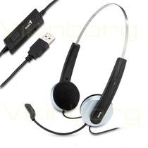 Auricular Con Microfono Genius Hs-210u Usb Control Volumen
