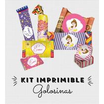 Kit Imprimible Bella Princesas Golosinas Souvenirs