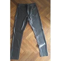 Pantalón Chupin, Gris Metalizado, H&m,nuevo,tiro Alto