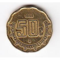 México, Moneda De 50 Centavos Del Año 1999
