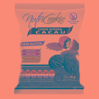 NutriCookie Integral de Cacau Sem Glúten - 35g - NutriPleno