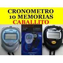 Cronometro Deportivo 10 Memorias Digital De Mano Caballito