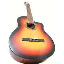 Guitarra Criolla Con Corte Con Funda Y Púas De Regalo