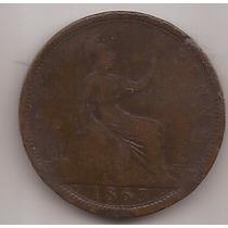 Gran Bretaña Moneda De 1 Penny Año 1863 !!!