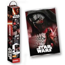 Star Wars Banner Poster Mural Colgar Y Decorar 1m Disney