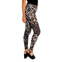 Calza Leggings Estampado Animal Print Mujer, Brishka T002-13