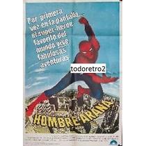 Afiche El Hombre Araña Nicholas Hammond, David White 1977