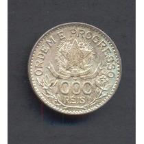Moneda Brasil 1000 Reis Plata Km# 513a 1913 Muy Buen Estado