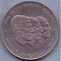 Republica Dominicana 1/2 Peso 1986 * Derechos Humanos *