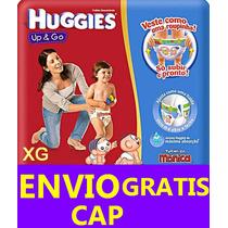 Pañales Huggies Up Go Bombachita Calzon - Envio Gratis Cap