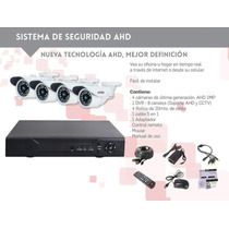 Kit De Seguridad Ahd D675 8 Ch Alta Definicion, 4 Cam 1mpx